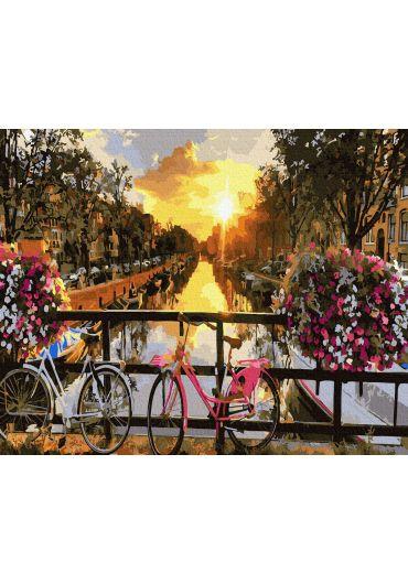 Set Picturi pe numere, Acuarello, 40X50 cm - Spring in Amsterdam