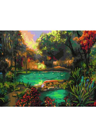 Set Picturi pe numere, Acuarello, 40X50 cm - Magic Lake
