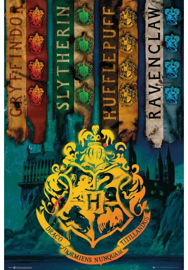 Poster - Harry Potter - House Flags