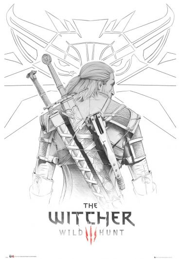Poster - The Witcher, Wild Hunt - Geralt Sketch