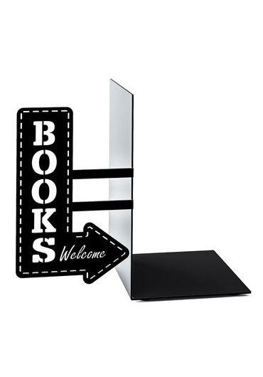 Suport lateral pentru carti - Bookshop Black
