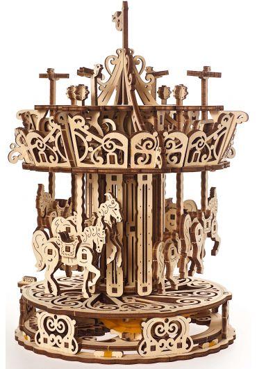 Puzzle 3D lemn - Carusel