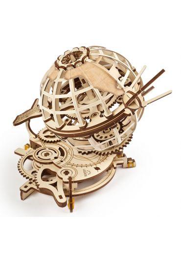 Puzzle 3D lemn - Glob pamantesc