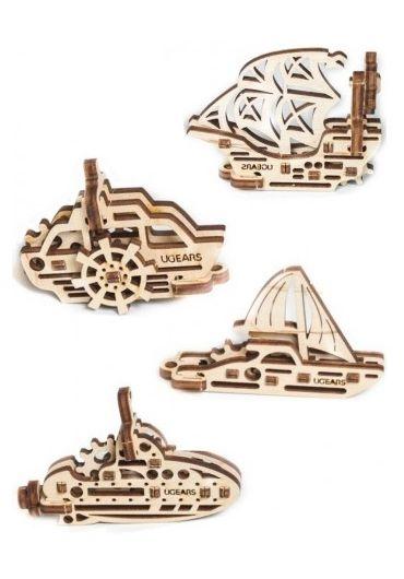 Puzzle 3D lemn - U-Fidget Vapoare