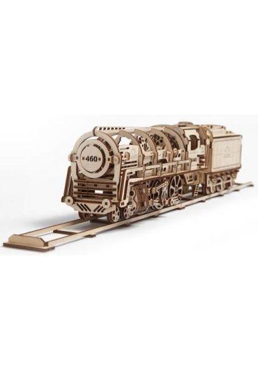 Puzzle 3D lemn - Locomotiva cu vagon