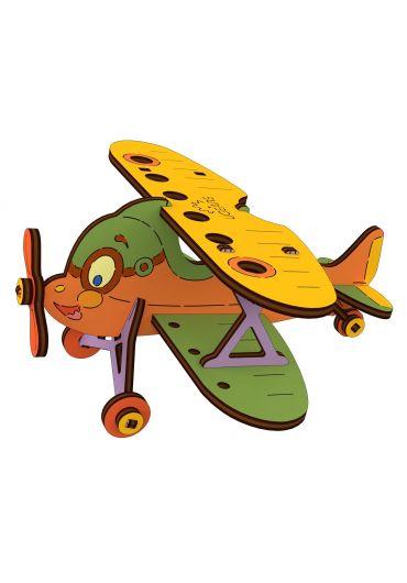 Puzzle 3D lemn - Biplan