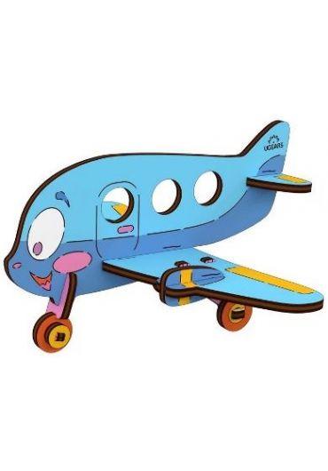 Puzzle 3D lemn - Avion