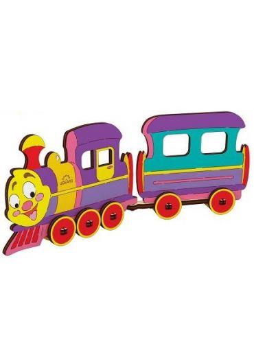 Puzzle 3D lemn - Locomotiva