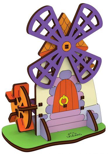 Puzzle 3D lemn - Moara