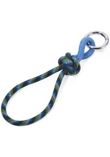 Breloc - Rope with Knot - Blue & Green