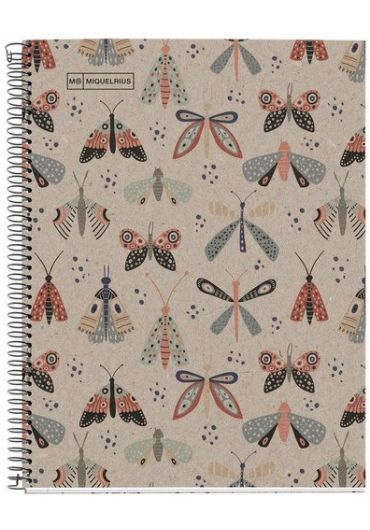 Caiet A4 80 file matematica Recycled Ecobutterfly
