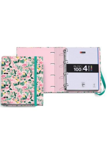 Caiet mecanic A4 cu 100 file matematica Flamingo