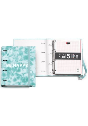 Caiet mecanic A4 cu 100 file matematica Tie Dye Blue