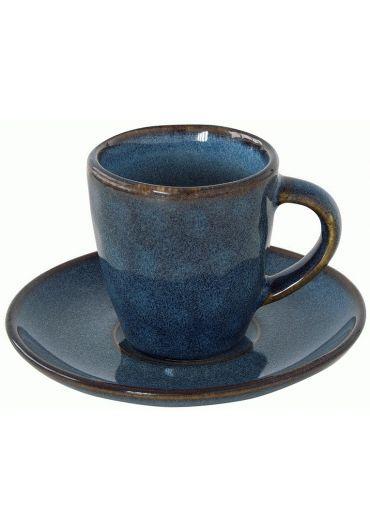 Ceasca espresso cu farfurioara - Genesis Blue