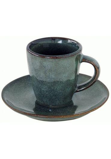 Ceasca espresso cu farfurioara - Genesis Green