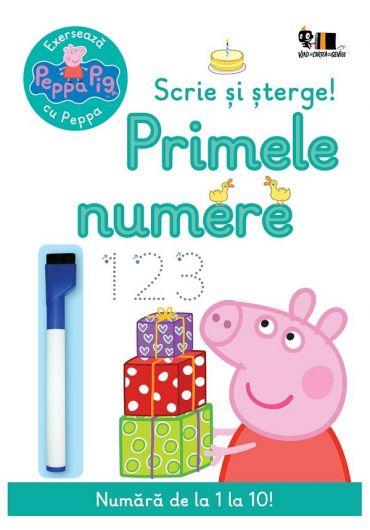 Peppa Pig: Exerseaza cu Peppa. Scrie si sterge! Primele numere