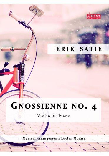 Gnossienne no. 4. Violin & Piano. Partituri