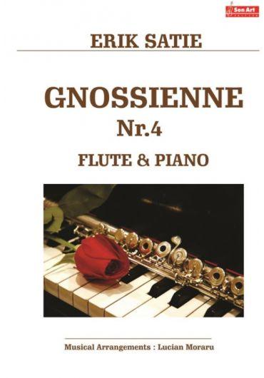 Gnossienne no. 4. Flute & Piano. Partituri