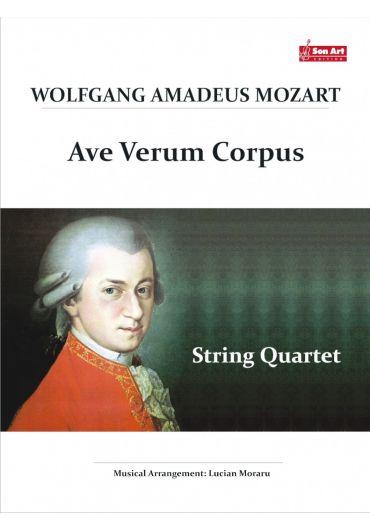 Ave Verum Corpus. String quartet. Partituri