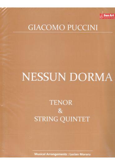 Nessun Dorma. Tenor & String quintet. Partituri