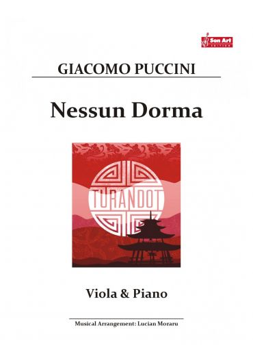Nessun Dorma. Viola & Piano. Partituri