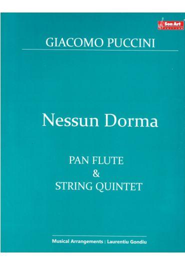 Nessun Dorma. Pan Flute & String quintet. Partituri