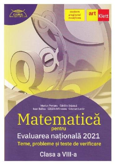 Evaluarea nationala 2021. Matematica. Clasa a VIII a