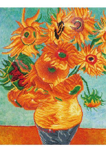 Tablou cu diamante - Vaza cu flori (Van Gogh)