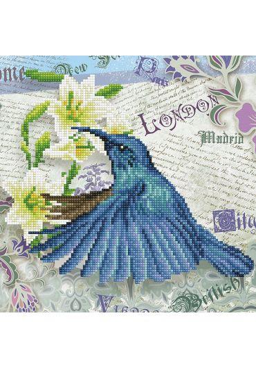 Tablou cu diamante - Pasarea colibri