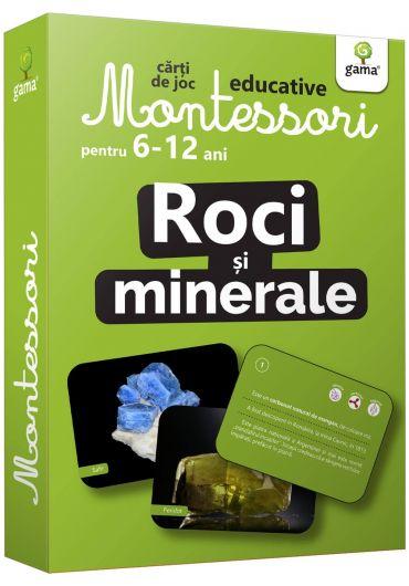 Roci si minerale. Carti de joc Montessori pentru 6-12 ani