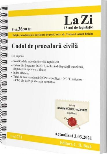 Codul de procedura civila. Actualizat 3.03.2021