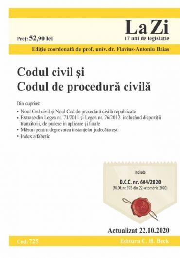 Codul civil si Codul de procedura civila. Actualizat 22.10.2020