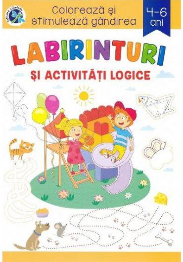 Labirinturi si activitati logice 4-6 ani. Coloreaza si stimuleaza gandirea!