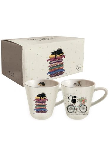 Set 2 cesti espresso - Bug Art - Chats Blancs
