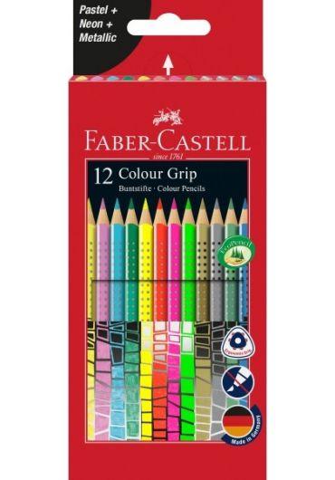 Creioane colorate 12 culori speciale Grip