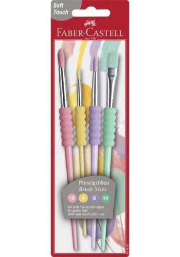 Set 4 pensule soft touch pastel