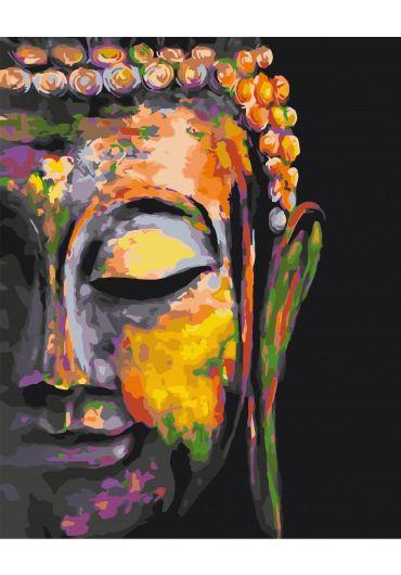 Set Picturi pe numere, Acuarello, 40X50 cm - Buddha