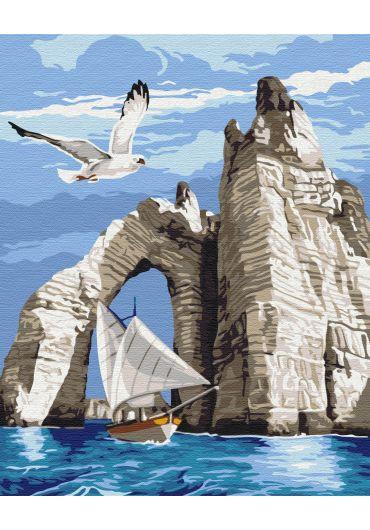 Set Picturi pe numere, Acuarello, 40X50 cm - Island Coast
