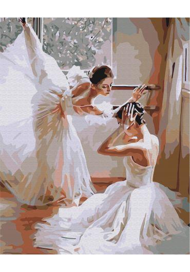 Set Picturi pe numere, Acuarello, 40X50 cm - White Ballerinas