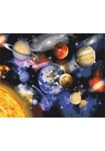 Set Picturi pe numere, Acuarello, 40X50 cm - Galaxy Picture