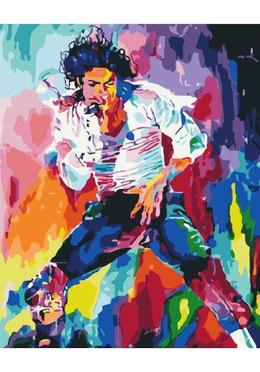 Set Picturi pe numere, Acuarello, 40X50 cm - Michael Jackson