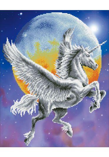 Tablou cu diamante - Unicorn alb