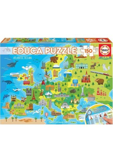 Puzzle 150 piese Map of Europe