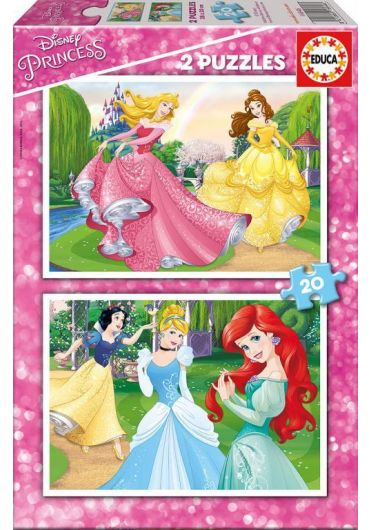 Puzzle 2 in 1 (20+20 piese) Disney Princess