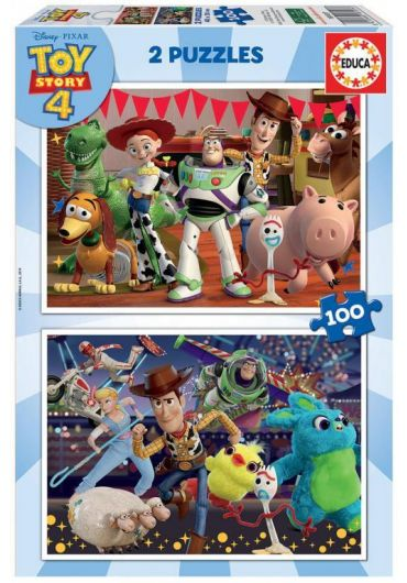 Puzzle 2 in 1 (100+100 piese) Toy Story 4