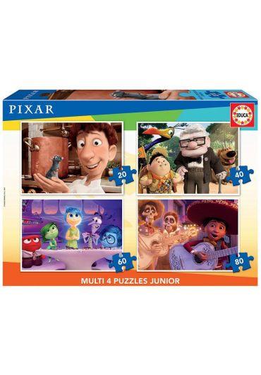 Puzzle 4 in 1 (20+40+60+80 piese) Disney Pixar