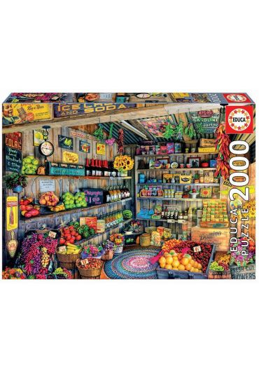 Puzzle 2000 piese The Farmers Market