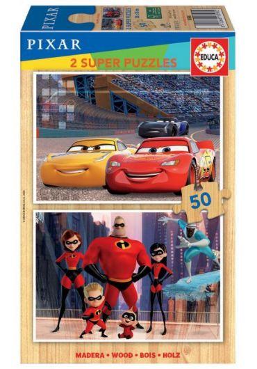 Puzzle 2 in 1 (50+50 piese) Disney Pixar