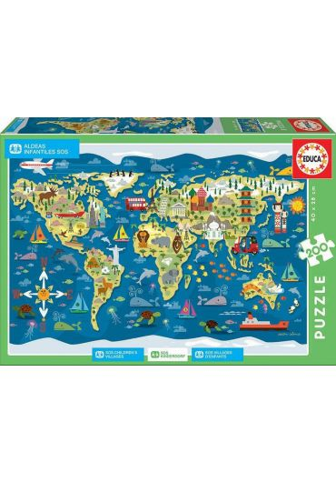 Puzzle 200 piese World Map