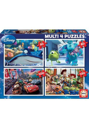 Puzzle 4 in 1 (50+80+100+150 piese) Multi Pixar